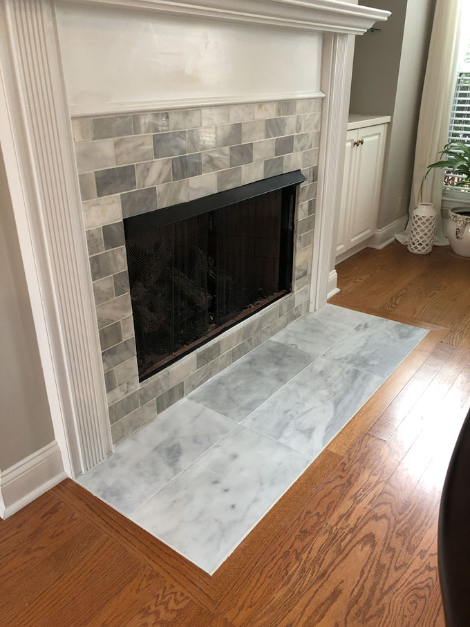 How To Tile A Fireplace South Georgia, Can You Tile A Fireplace Surround