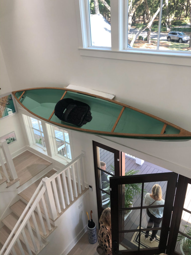 HGTV Dream Home kayak on wall